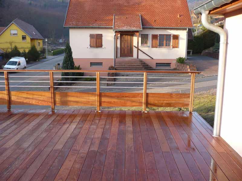 de garde corps et escaliers en bois, posé ou en kit  Alsace Terrasse