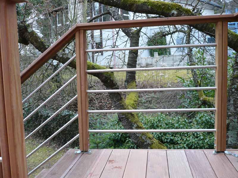 Vente de garde corps et escaliers en bois, posé ou en kit  Alsace